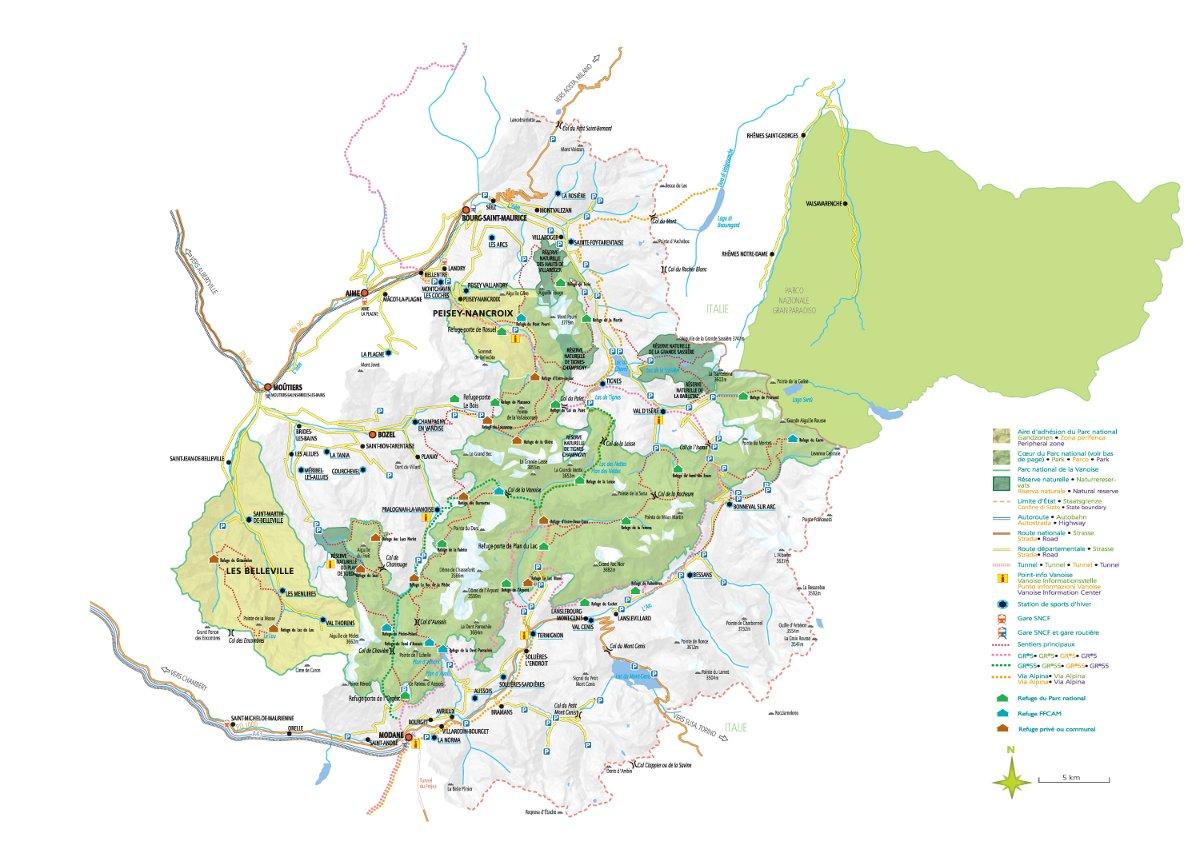 parc de la vanoise carte Le territoire du parc   Parc national de la Vanoise