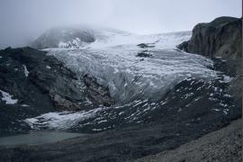 Extrémité de la langue du Glacier de Gébroulaz en 2006