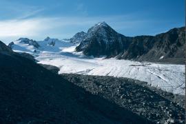 Front du Glacier de Gébroulaz : vue de la partie supérieure en 2011