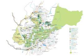 Carte de présentation du parc national de la Vanoise