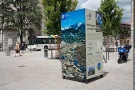 Exposition sur le PNV conçue spécialement pour être installée dans les rues de Chambéry en juillet et août 2013 à l'occasion du 50e anniversaire du PNV