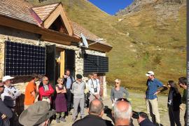 Inauguration de la pile et prise de parole de Rozenn Hars, Présidente du Conseil d'administration du Parc