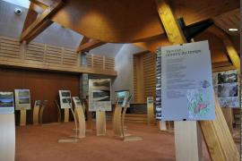 """Exposition """"Miroirs du temps"""", présentée dans la salle de conférences de la Mairie de Tignes"""