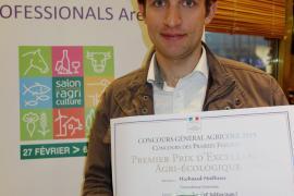 Mathieu Michau, éleveur à Bourg-Saint-Maurice et lauréat du concours national 2015