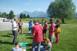Les participants à l'atelier géologie du forum