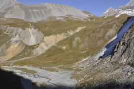 Vue d'ensemble de la montagne du Saut © Parc national de la Vanoise - Vincent Augé