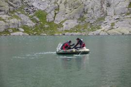Prélèvements au lac du Mont-Coua - © PNV - Vincent Augé