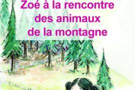 """Livre tactilo-visuel """"Zoé à la rencontre des animaux de la montagne"""""""