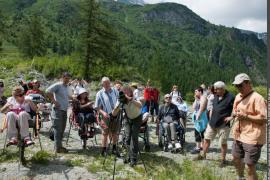 """""""Balade étonnante"""" proposée – dans le cadre de l'anniversaire des 50 ans du PNV – par l'Association des paralysés de France"""