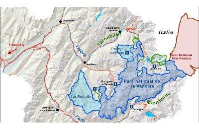 parc de la vanoise carte Parc national de la Vanoise   Parc national de la Vanoise